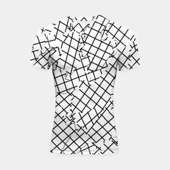 Thumbnail image of geometric square shape abstract background in black and white Shortsleeve rashguard, Live Heroes