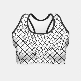 Thumbnail image of geometric square shape abstract background in black and white Crop Top, Live Heroes