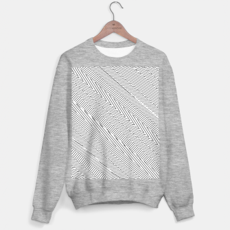 Thumbnail image of geometric line pattern abstract background in black and white Sweater regular, Live Heroes