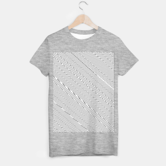 Thumbnail image of geometric line pattern abstract background in black and white T-shirt regular, Live Heroes