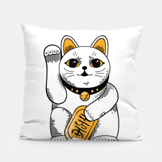 Thumbnail image of Maneki Neko - White Pillow, Live Heroes
