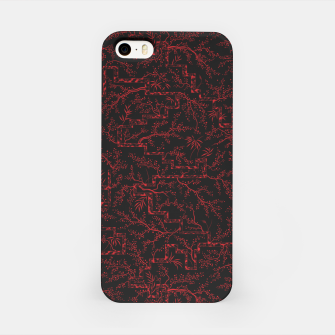 Thumbnail image of Last flash of sunset on sakura bloom at twilight iPhone Case, Live Heroes