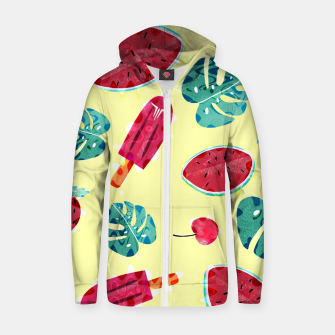 Thumbnail image of Cool Summer Sudadera con capucha y cremallera , Live Heroes