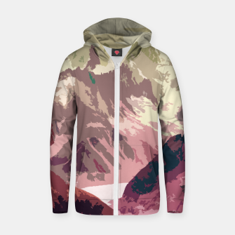 Miniatur Mountain River Zip up hoodie, Live Heroes