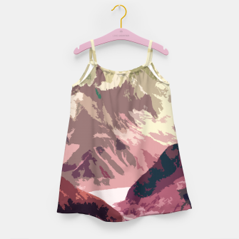 Miniatur Mountain River Girl's dress, Live Heroes