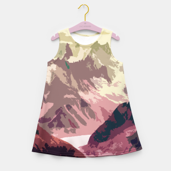 Miniatur Mountain River Girl's summer dress, Live Heroes