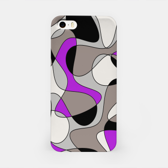 Thumbnail image of Abstract pattern - purple and gray. iPhone Case, Live Heroes