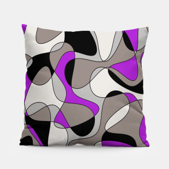 Thumbnail image of Abstract pattern - purple and gray. Pillow, Live Heroes