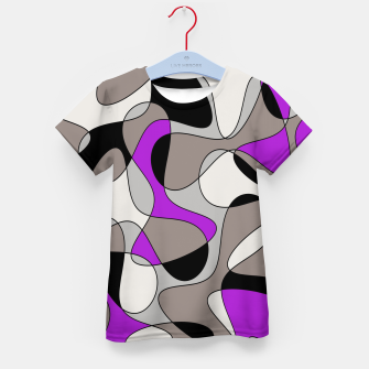 Thumbnail image of Abstract pattern - purple and gray. Kid's t-shirt, Live Heroes