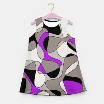 Thumbnail image of Abstract pattern - purple and gray. Girl's summer dress, Live Heroes