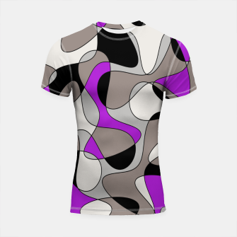 Thumbnail image of Abstract pattern - purple and gray. Shortsleeve rashguard, Live Heroes