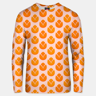 Art tulips blossoming, orange and pink print Unisex sweater thumbnail image
