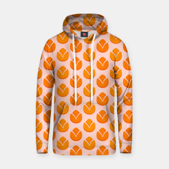 Art tulips blossoming, orange and pink print Hoodie thumbnail image