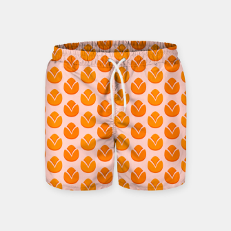 Art tulips blossoming, orange and pink print Swim Shorts thumbnail image