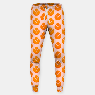 Art tulips blossoming, orange and pink print Sweatpants thumbnail image