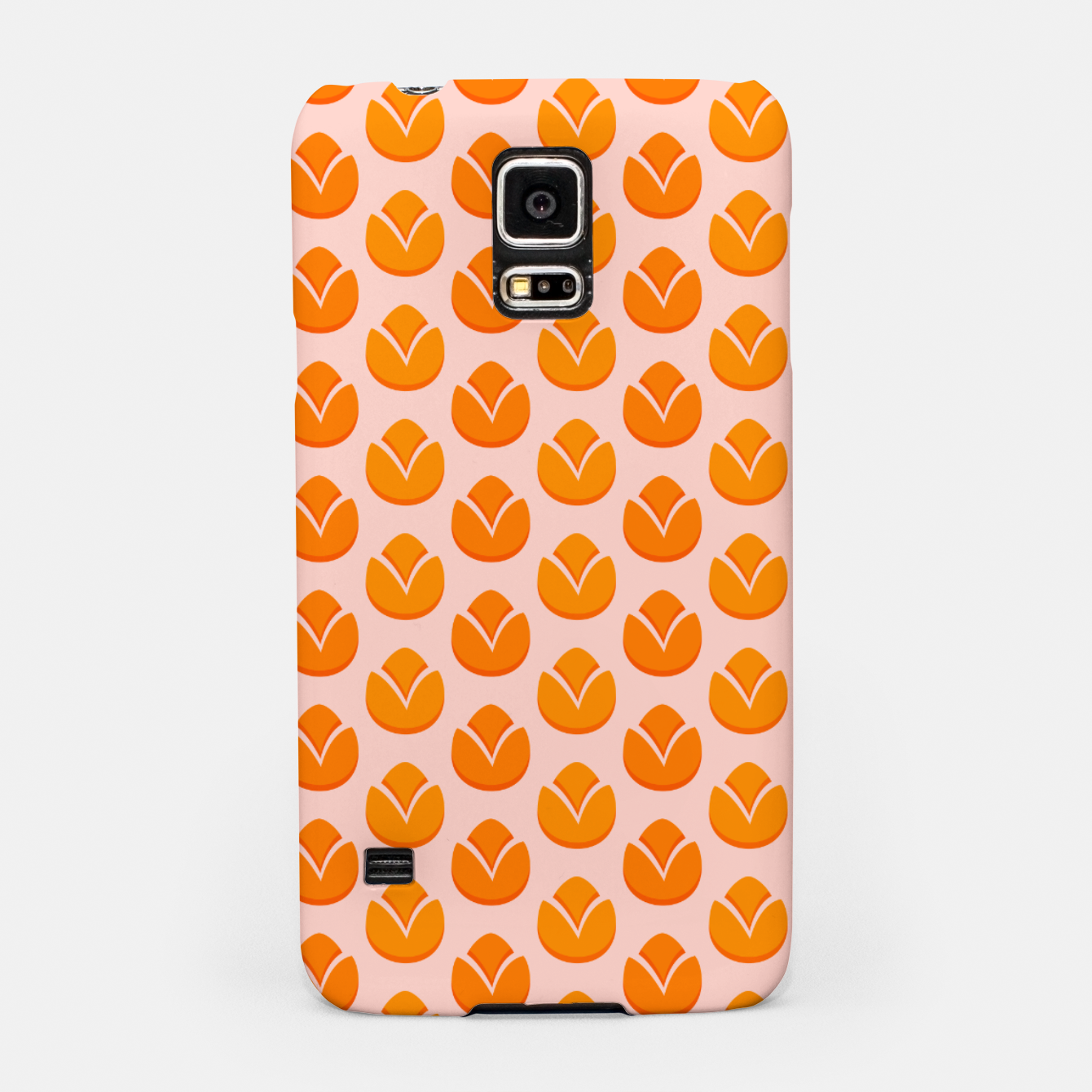 Image of Art tulips blossoming, orange and pink print Samsung Case - Live Heroes