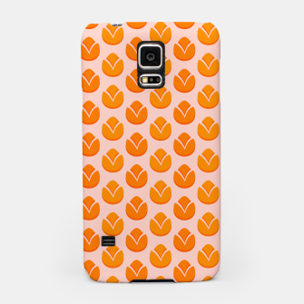 Thumbnail image of Art tulips blossoming, orange and pink print Samsung Case, Live Heroes