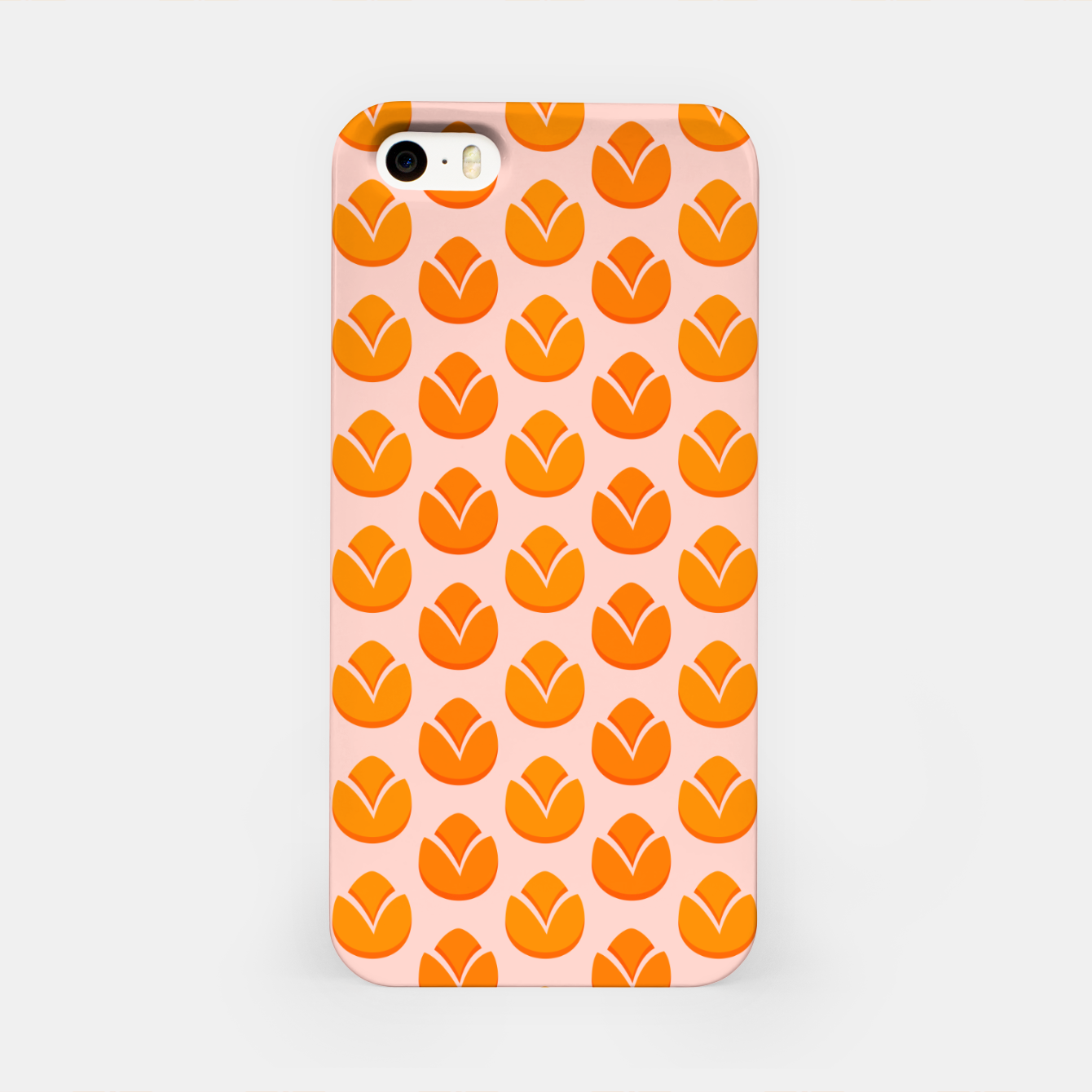 Image of Art tulips blossoming, orange and pink print iPhone Case - Live Heroes