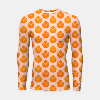 Thumbnail image of Art tulips blossoming, orange and pink print Longsleeve rashguard , Live Heroes
