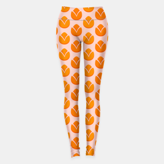 Thumbnail image of Art tulips blossoming, orange and pink print Leggings, Live Heroes
