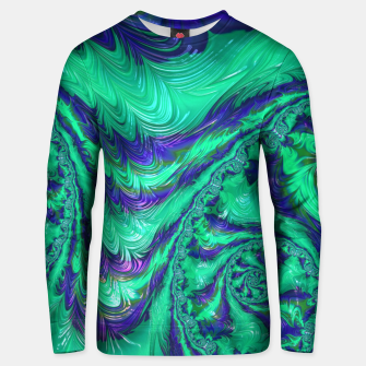 Miniaturka Blue Green Liquid Stripes Fractal Unisex sweater, Live Heroes