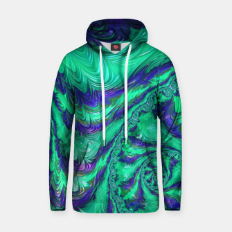 Thumbnail image of Blue Green Liquid Stripes Fractal Hoodie, Live Heroes