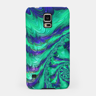 Miniaturka Blue Green Liquid Stripes Fractal Samsung Case, Live Heroes