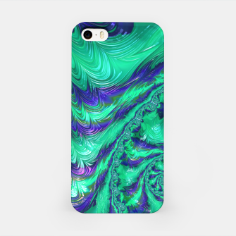 Miniaturka Blue Green Liquid Stripes Fractal iPhone Case, Live Heroes