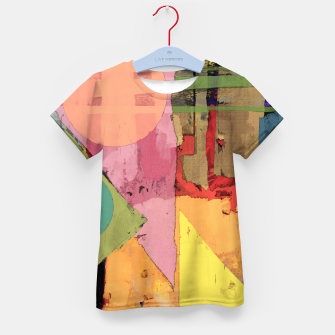 Thumbnail image of Over the rooftops Kid's t-shirt, Live Heroes