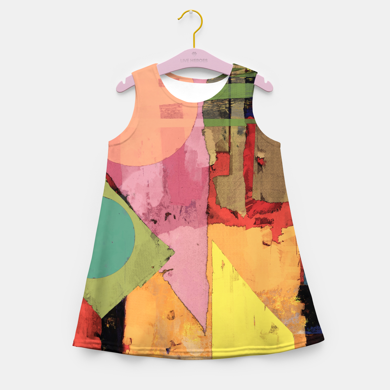 Image of Over the rooftops Girl's summer dress - Live Heroes