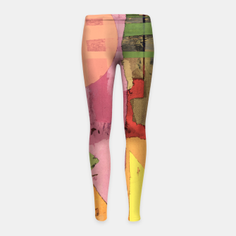 Thumbnail image of Over the rooftops Girl's leggings, Live Heroes