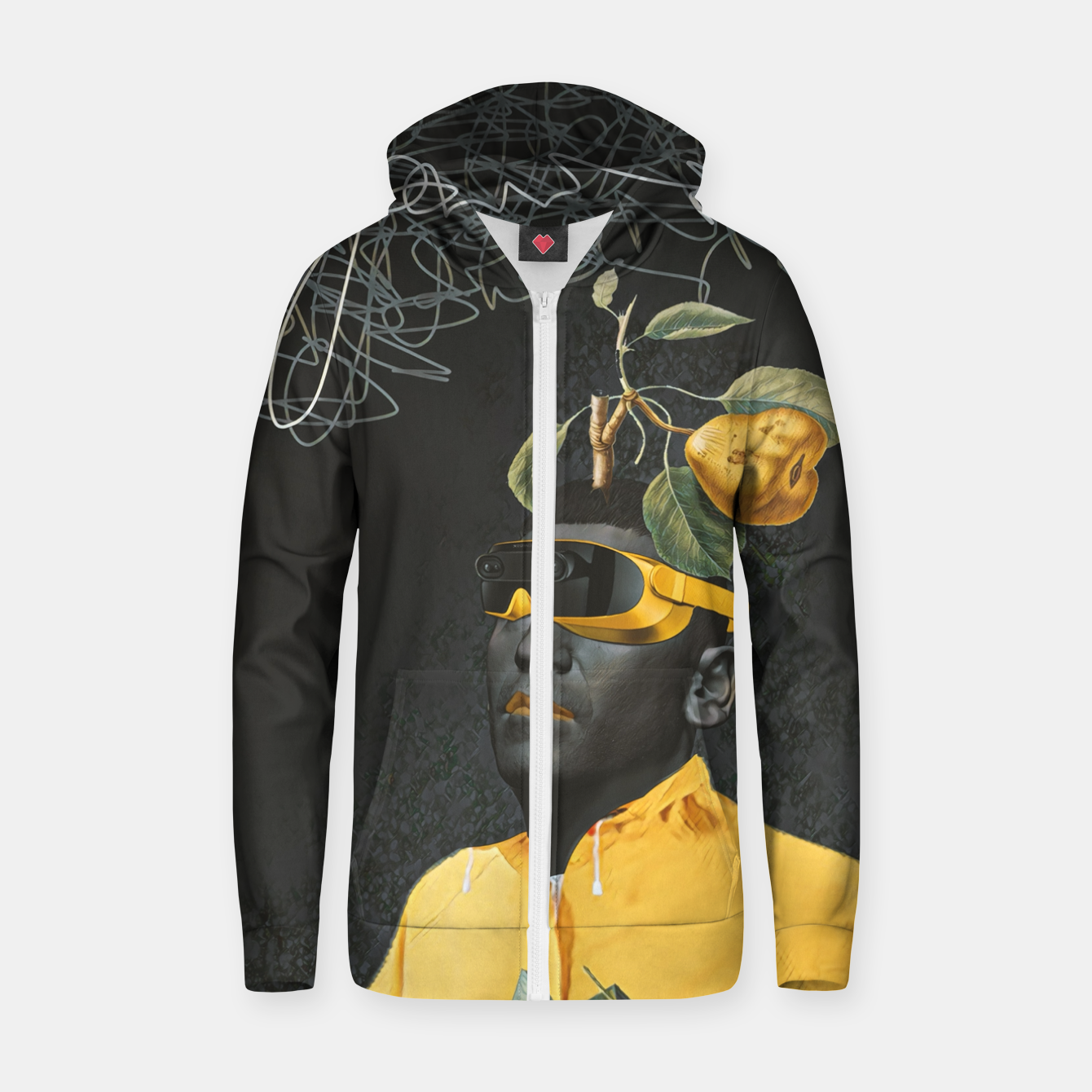 Image of To the future Zip up hoodie - Live Heroes
