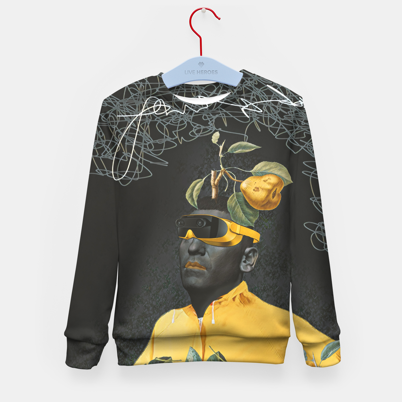 Image of To the future Kid's sweater - Live Heroes