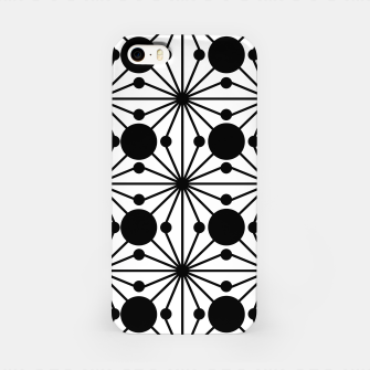 Miniaturka Abstract geometric pattern - black and white. iPhone Case, Live Heroes