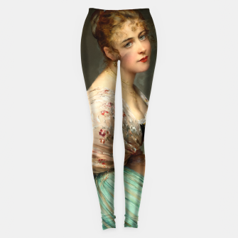 Thumbnail image of Contemplation by Eugene de Blaas Old Masters Classical Art Reproduction Leggings, Live Heroes