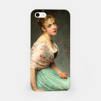 Miniaturka Contemplation by Eugene de Blaas Old Masters Classical Art Reproduction iPhone Case, Live Heroes