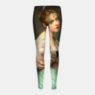 Miniaturka Contemplation by Eugene de Blaas Old Masters Classical Art Reproduction Girl's leggings, Live Heroes