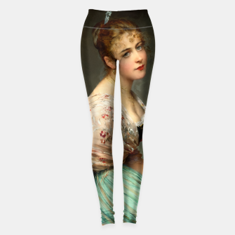 Miniaturka Contemplation by Eugene de Blaas Old Masters Classical Art Reproduction Leggings, Live Heroes