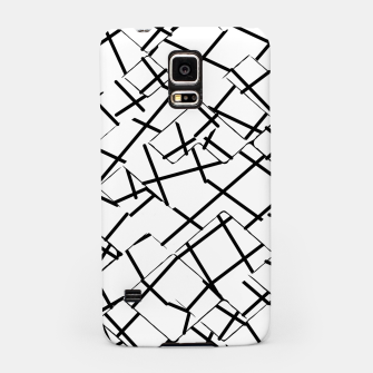 Miniaturka geometric square shape abstract background in black and white Samsung Case, Live Heroes