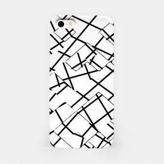 Miniaturka geometric square shape abstract background in black and white iPhone Case, Live Heroes