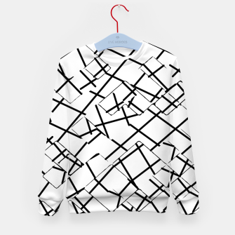 Miniaturka geometric square shape abstract background in black and white Kid's sweater, Live Heroes