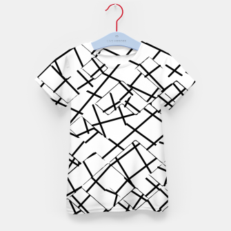 Miniaturka geometric square shape abstract background in black and white Kid's t-shirt, Live Heroes