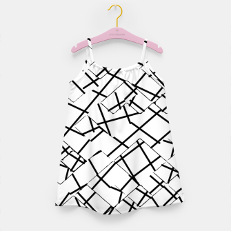 Miniaturka geometric square shape abstract background in black and white Girl's dress, Live Heroes