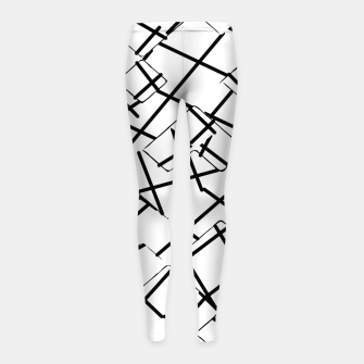 Miniaturka geometric square shape abstract background in black and white Girl's leggings, Live Heroes