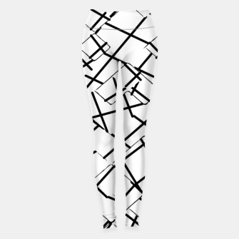 Miniaturka geometric square shape abstract background in black and white Leggings, Live Heroes