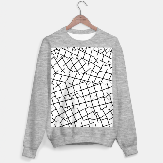 Miniaturka geometric square shape pattern abstract background in black and white Sweater regular, Live Heroes