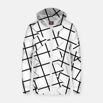 Miniaturka geometric square shape pattern abstract background in black and white Zip up hoodie, Live Heroes