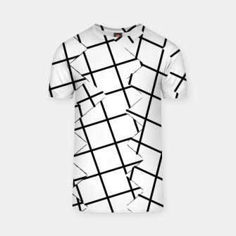 Miniaturka geometric square shape pattern abstract background in black and white T-shirt, Live Heroes