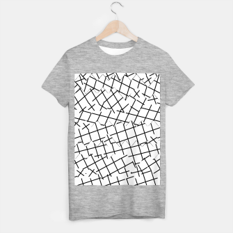 Miniaturka geometric square shape pattern abstract background in black and white T-shirt regular, Live Heroes