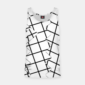 Miniaturka geometric square shape pattern abstract background in black and white Tank Top, Live Heroes